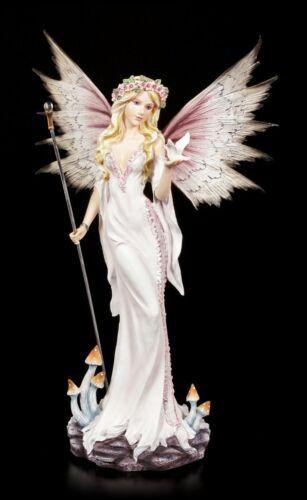 Los elfos mágicos figura 53 cm-fee isahia con paloma blanco-estatua Fantasy