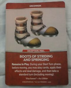 Dungeons & Dragons Dragonfire Boots of STriding & Springing Equipment Promo D&D