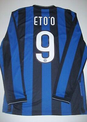 2009 2010 Nike Inter Milan Samuel Eto O 9 Long Sleeve Jersey Kit Shirt Cameroon Ebay
