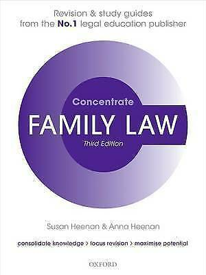 Family Law Concentrate: Law Revision and Study Guide by Susan Heenan, Anna...