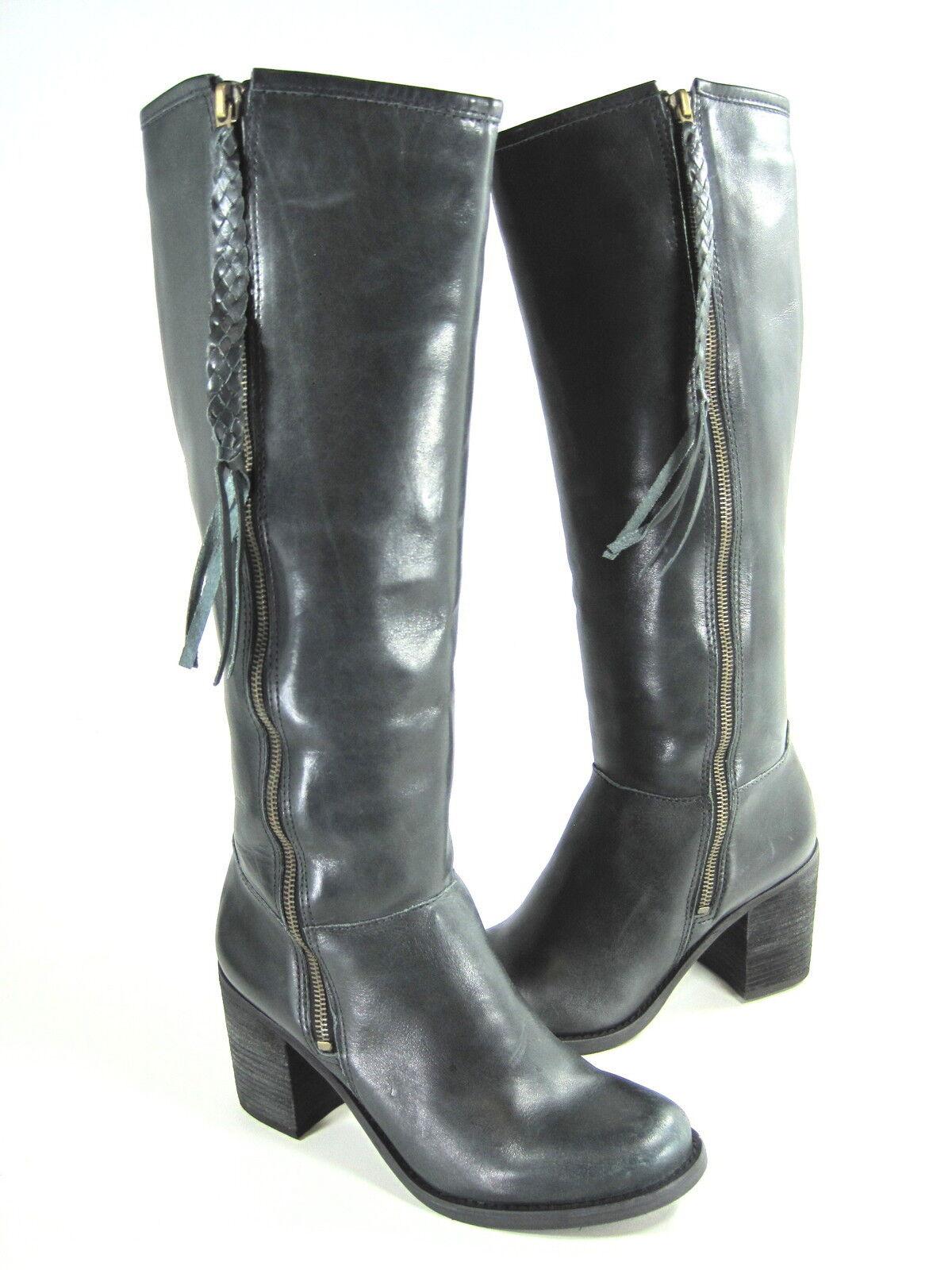 stile classico STEVEN BY STEVE MADDEN donna WISHFIL stivali stivali stivali nero LEATHER US SZ 6.5 MEDIUM (B)M  Garanzia del prezzo al 100%