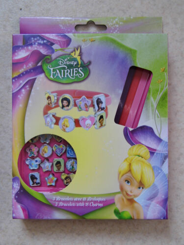 3 Bracelets 18 breloques Disney Fée Clochette