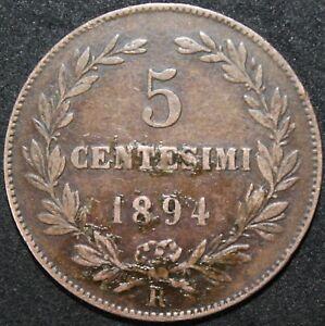 1894 | San Marino 5 Centesimi | Copper | Coins | KM Coins
