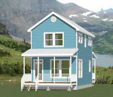 16x28 House -- PDF Floor Plan -- 814 sq ft -- Model 5B