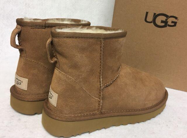 b4563a382fb UGG Australia Classic Mini II Boots 1016222 Chestnut Suede Sheepskin  Women's 5