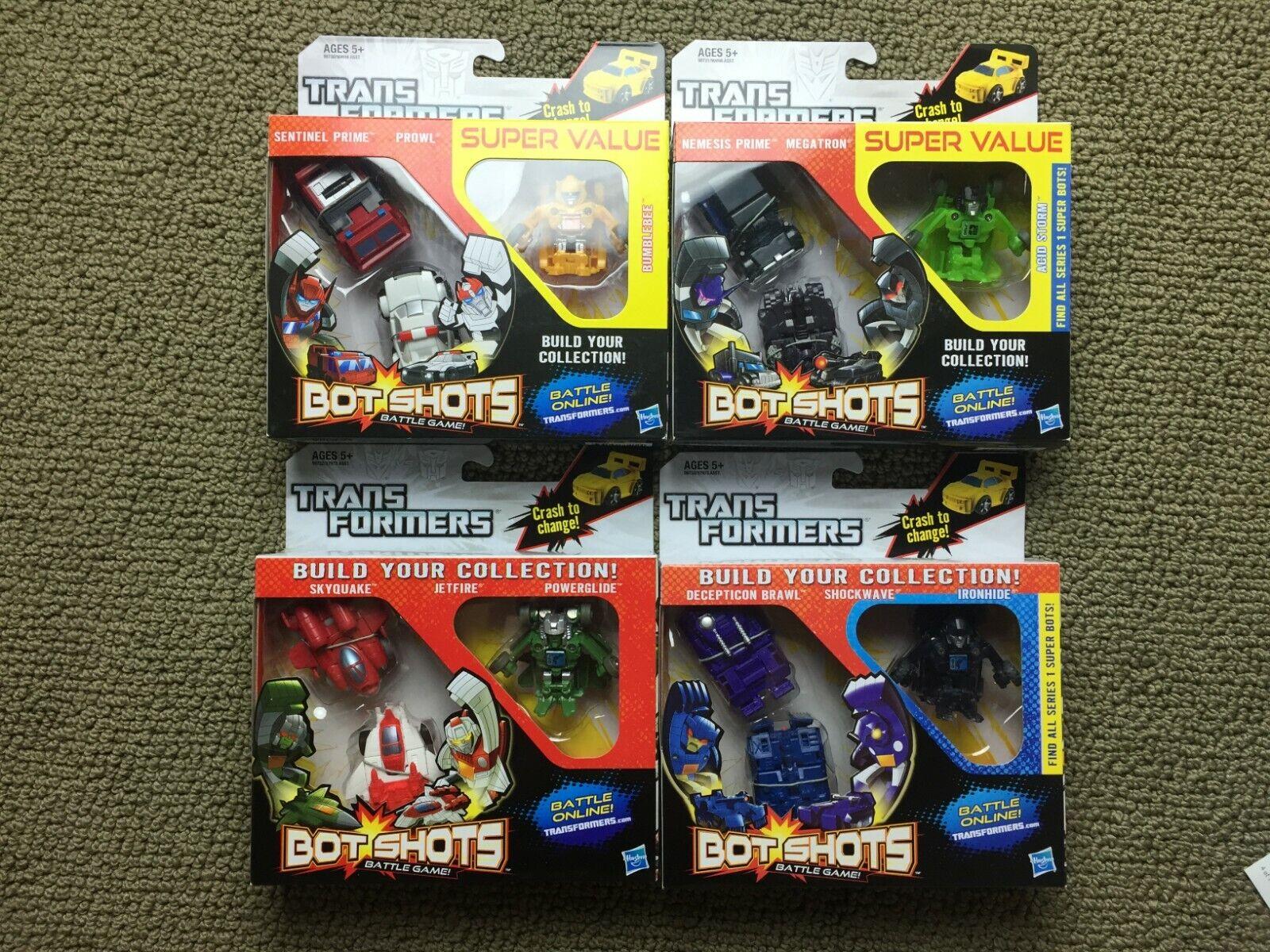comprar descuentos Transformers Transformers Transformers Bot Tiros serie 1 Bumblebee Sentinel Prime prwol Jetfire Megatron  Sin impuestos