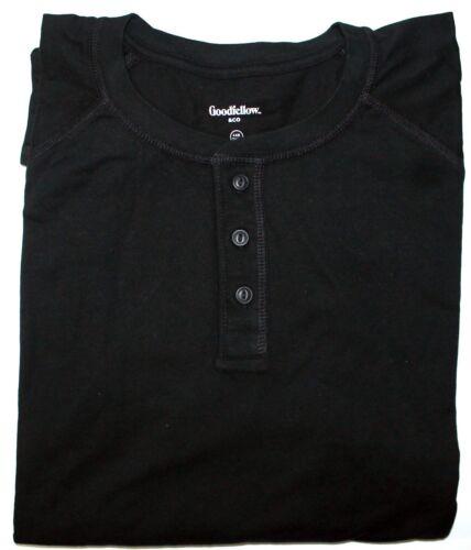 Goodfellow /& Co Men/'s Cotton Standard 3-Button Henley Shirt Big /& Tall Variety