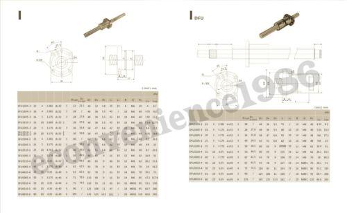 1 XRM2005--500 //700 mm anti backlash Ballscrews 2 Pcs RM2005 Ballscrew Nut