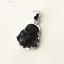 Genuine-925-Sterling-Silver-Obsidian-Black-Gemstone-Yoga-Buddha-Necklace-Pendant thumbnail 2