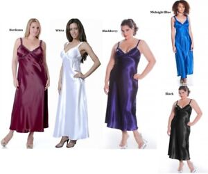 Womens-Long-Nightgown-M-Plus-Size-1X-2X-3X-4X-5X-6X-Assorted-Colors