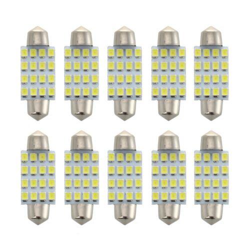 10pcs de Bombilla de cupula blanca de la boveda 39mm 1210 SMD 16 LED C5W Q6Q7