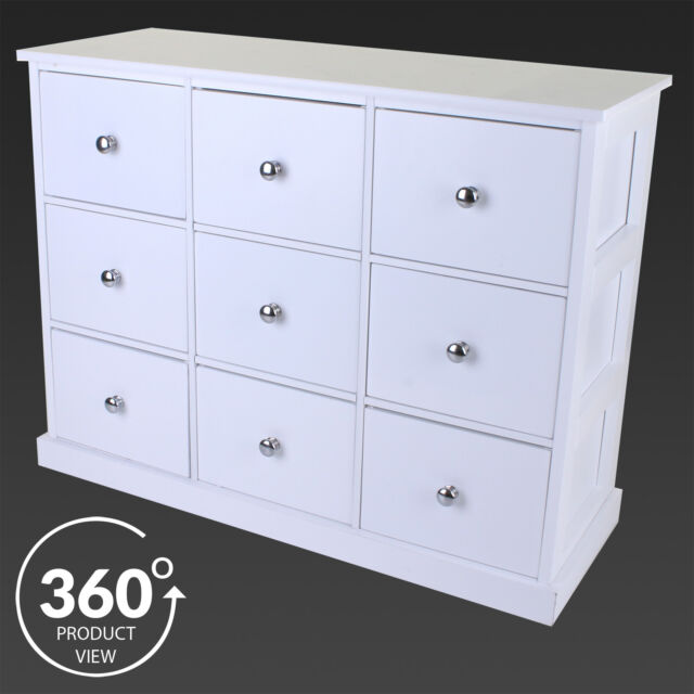 Large Chest Of Drawers White Wooden Storage Unit Bedroom Furniture Cabinet  Draw