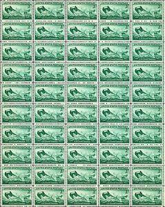 U.S. COAST GUARD (1945) – Full Mint -MNH- Sheet of 50 Vintage Postage Stamps