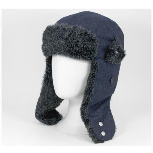 New Era Trapper Hat Navy Faux Fur EK Andesite Bargain £13.99