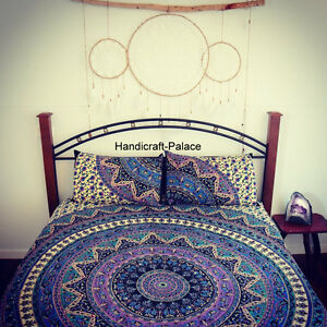 Image Is Loading Indian Psychedelic Mandala Tapestry Bed  Sheet Hippie Bedding