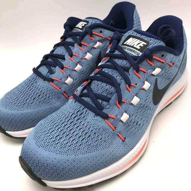 best sneakers dbcc2 7a9e5 Nike Air Zoom Vomero 12 Men s Running Shoes Work Blue Dark Obsidian 863762- 403