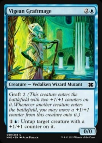 Blue Common Magic Card 4x MTG: Vigean Graftmage Modern Masters 2015