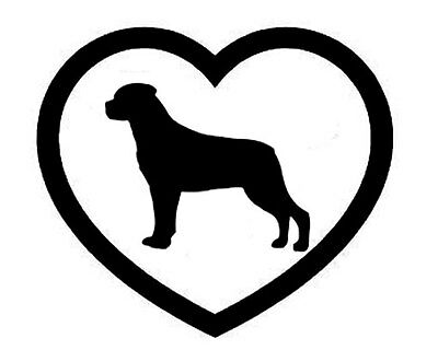 ROTTWEILER HEART VINYL DECAL STICKER DOG BREED CHOOSE COLOR SIZE | eBay
