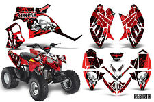 SIKSPAK Polaris Outlaw 90 Graphic Kit Wrap Quad Decal ATV All Years REBIRTH RED