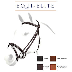 Equipe Emporio Leather Snaffle Bridle with Flash Noseband BRE06