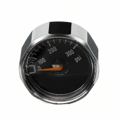 2Pcs 300 PSI 1//8/'/' NPT High Air Pressure Micro Gauge HPA Paintball Tank Mount