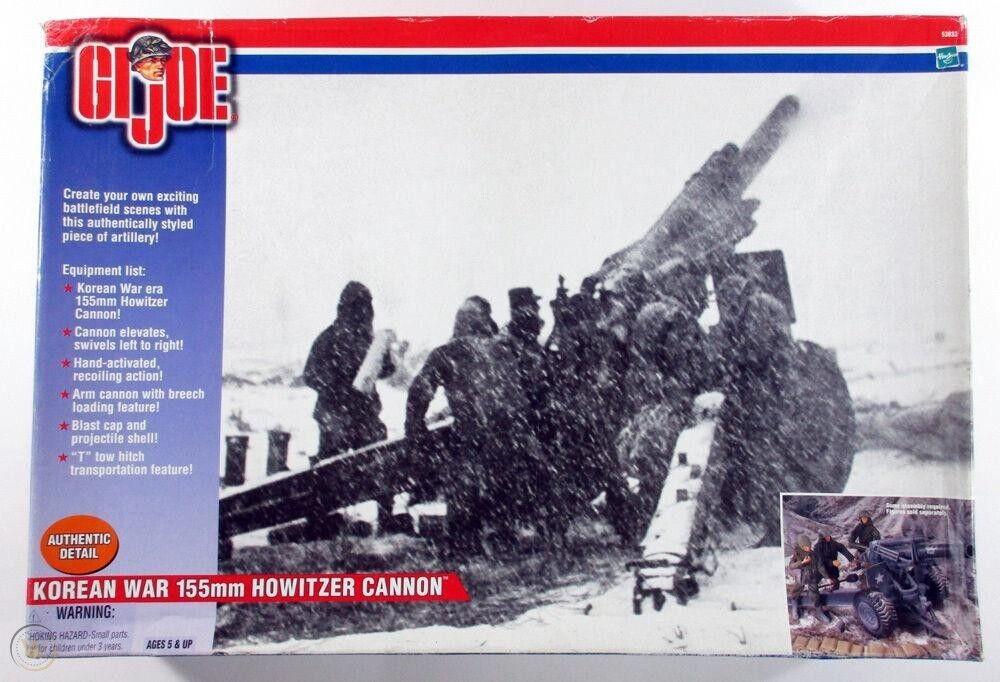 Hasbro 2001 GI Joe Korean War 155 mm Howitzer Cannon wih Gunner
