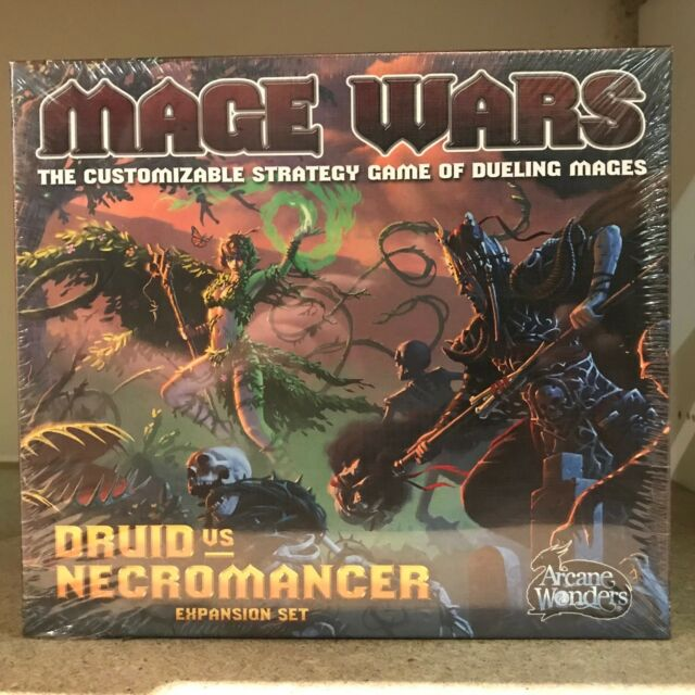 Mage Wars Druid vs Necromancer Expansion Board Game - Wizards Duel for Glory