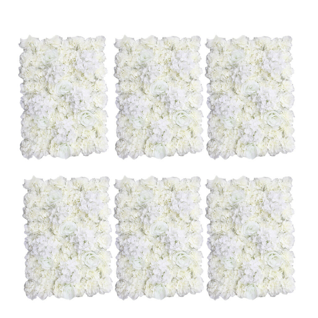 6pcs Artificial Flower Wall Panel Home Shop Wedding Decoration 60 x 40cm