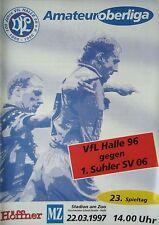 Programm 1996/97 VfL Halle 96 - Suhler SV
