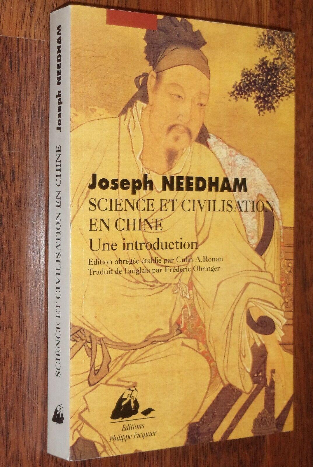 Joseph Needham SCIENCE ET CIVILATION EN CHINE une introduction 1995