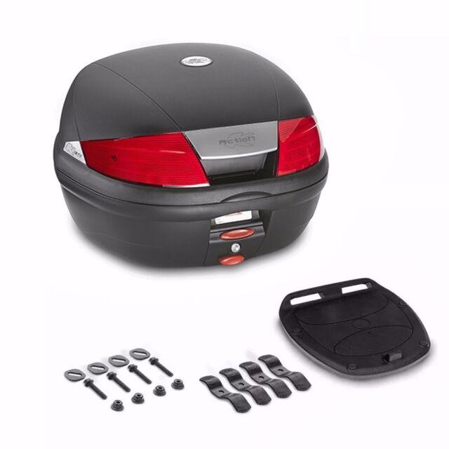 niskie ceny sklep internetowy autentyczny Kappa Black K35N Red Reflector Monolock Top Case Top Box with base plate 35  L