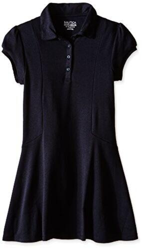 Select SZ//Color. Nautica Childrens Apparel Little Girls Uniform Polo Dress