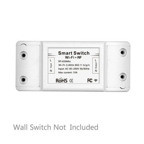 Multi-Functinal RF433 Receiver Wall Smart Wireless Switch Remote Voice Control