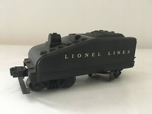 Antique-Vintage-Lionel-Lines-Black-Coal-Tender-Car-O-Scale-Metal-Train-Car
