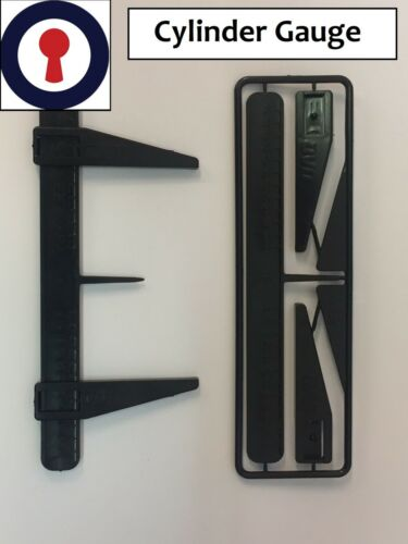 Locksmith tool for Euro cylinders measuring gauge 1st P/&P