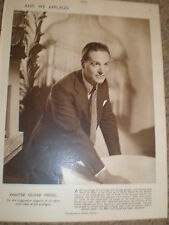 Photo article painter artist Oliver Messel 1950 ref K