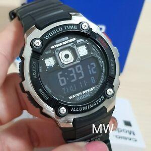 New-Casio-AE-2000W-1B-World-Time-Illuminator-Digital-Mens-Watch-AE2000-AE2000W