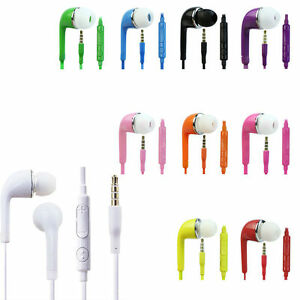 Lot Of 50 Stereo-3-5mm-Jack-Earbuds-Earphone-with-Mic- headphone mix colour