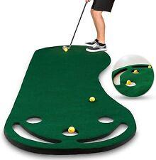 Abco Tech Golf Putting Green Grassroots Mat 9 x 3 feet 3 Free Yellow Golf Balls