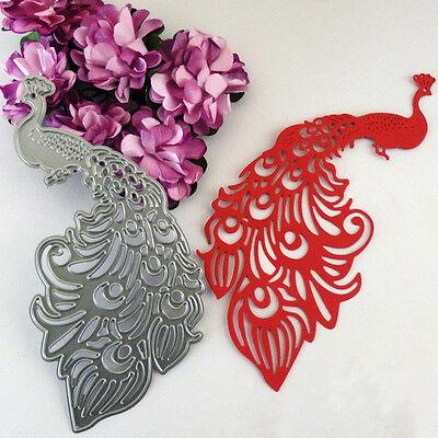 Peacock Cutting Dies Stencil DIY Scrapbooking Album Cards Paper Embossing Decor