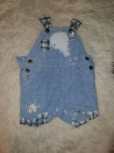 Boys-3-6-Months-Dungarees-shorts-jumpsuit-romper-playsuit-Star-Elephant-Next-Day