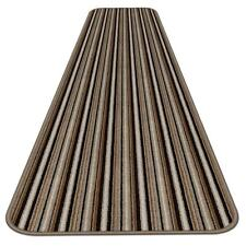 8 Ft X 27 In Skid Resistant Carpet Runner Mocha Brown Stripe Hall Area Rug