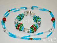 Ilde Santeria Ifa Orisha Bracelet & Collar Idde Mazo Yemaya Assesu Glass &coral