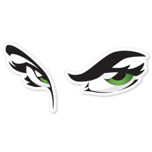 "Green Eyes car styling auto moto sticker set 6/"" x 4/"""