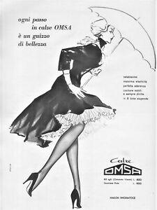vendite calde dai un'occhiata Acquista PUBBLICITA' 1956 CALZE OMSA MODA DONNA ELEGANZA BELLEZZA NYLON ...