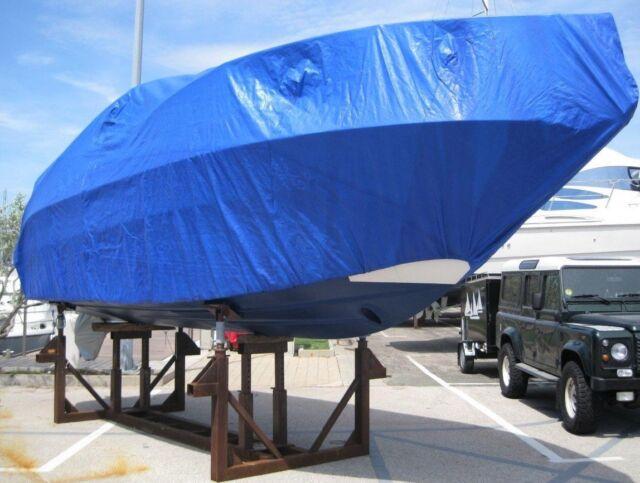 Abdeckplane Schutzfolie Schutzplane Bootsplane PE Plane 260 g//m² blau grün 8x10m