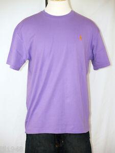 Polo ralph lauren purple t shirt orange polo pony s m l xl for Black ralph lauren shirt purple horse