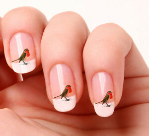 Image Is Loading 20 Nail Art Decals Transfers Stickers 258 Bird