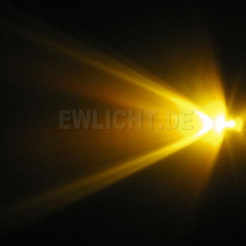 10 LEDs 3mm amarillo 3000mcd LED de color amarillo PC Modding para coche modellbau