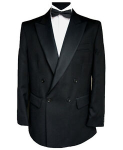 44 Finest Dinner Wool Double Breasted Barathea Dinner Jacket Double Wool 44 Barathea Jacket Beste Breasted 6qHwRR
